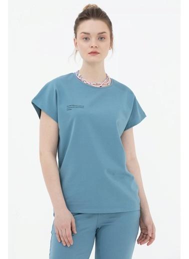 Sementa Oversize Kısa Kollu Tshirt - Mavi Mavi